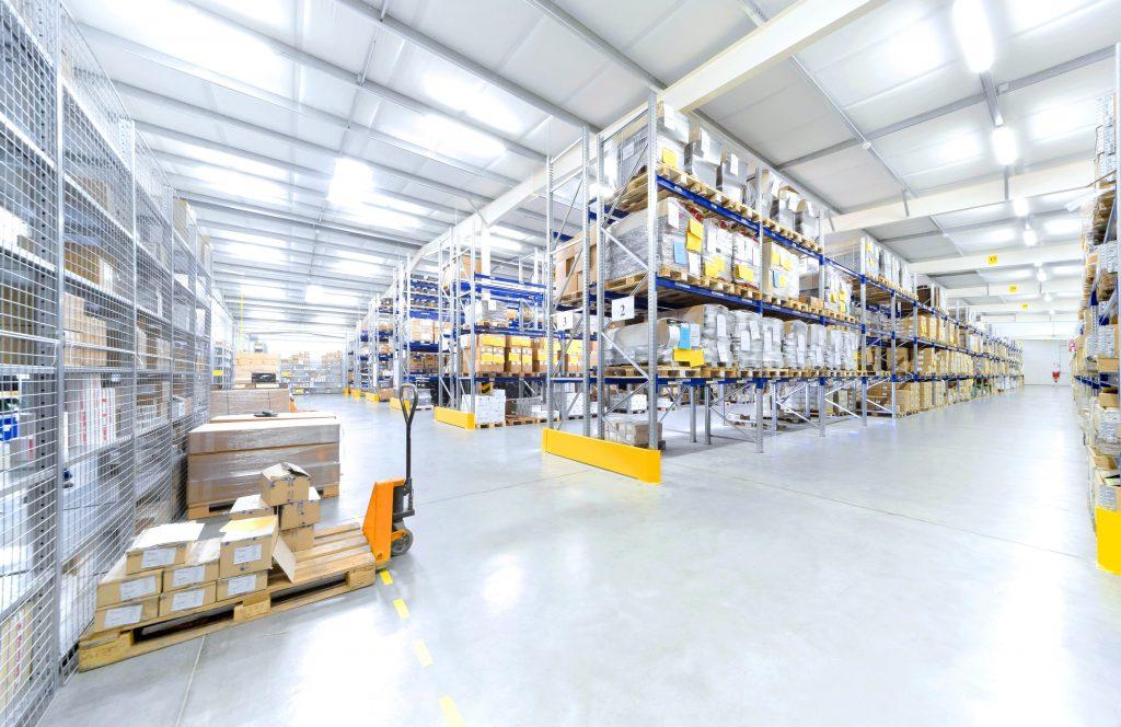 LED verlichting voor het logistieke centrum
