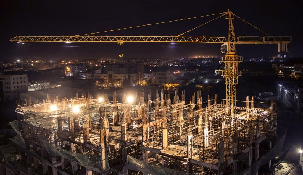 LED verlichting voor bouwplaatsen