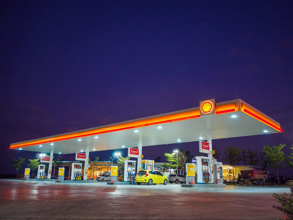 LED verlichting voor tankstations