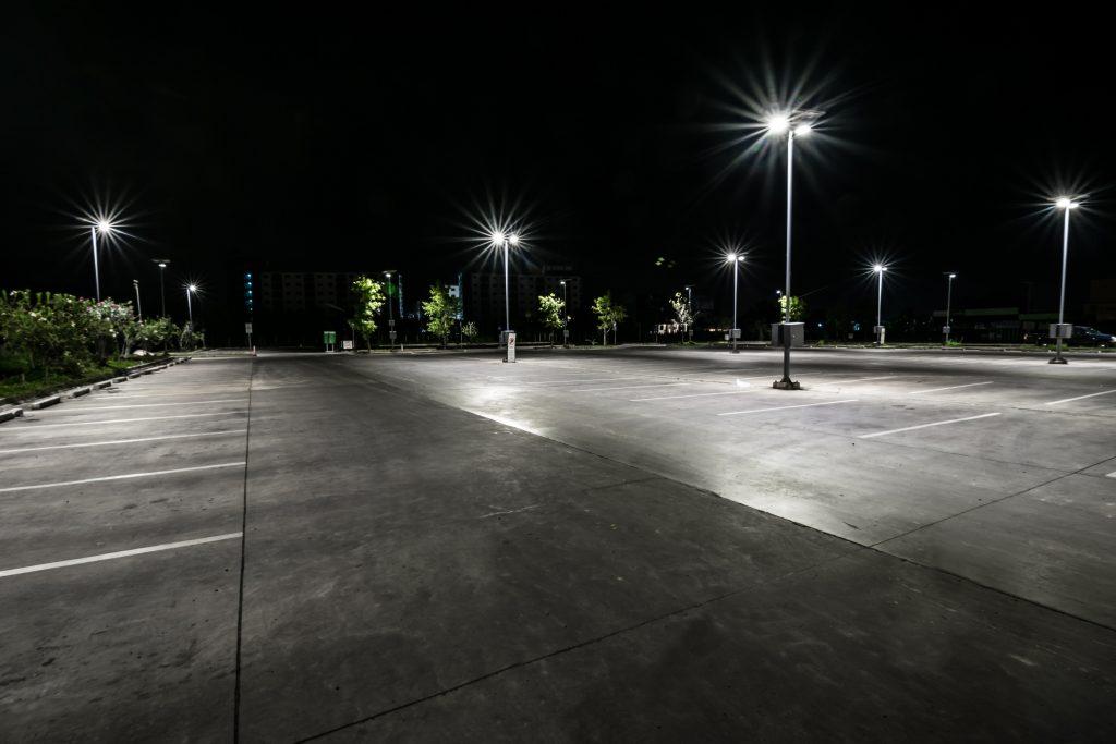LED verlichting voor parkeerplaatsen buiten